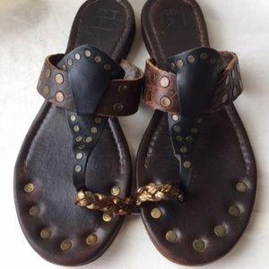 Frye Rachel Moto Toe Ring Sandals Size 8 1/2